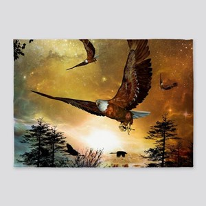 Awesome flying eagle 5'x7'Area Rug