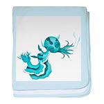 Little Moon Baby Blanket (blue Sea Slug)