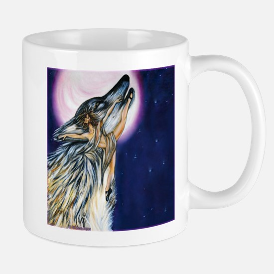 Wolf Woman Dances Mugs