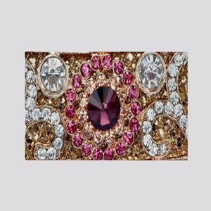 girly bohemian burgundy rhinestone Magnets