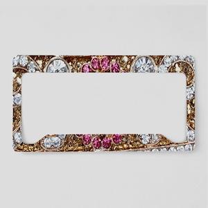 girly bohemian burgundy rhine License Plate Holder
