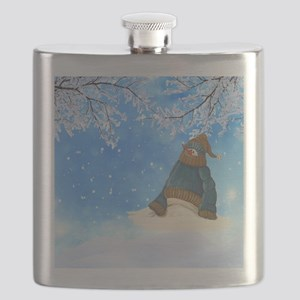 Half Melted Snowman Flask