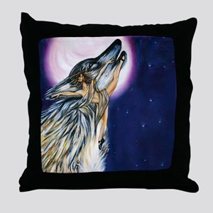 Wolf Woman Dances Throw Pillow