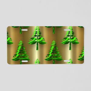 Green Christmas Trees on Go Aluminum License Plate
