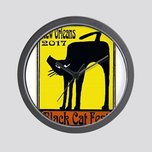 Black Cat Festival Wall Clock
