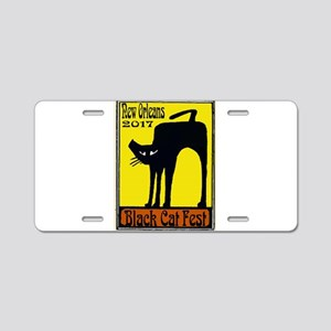 Black Cat Festival Aluminum License Plate