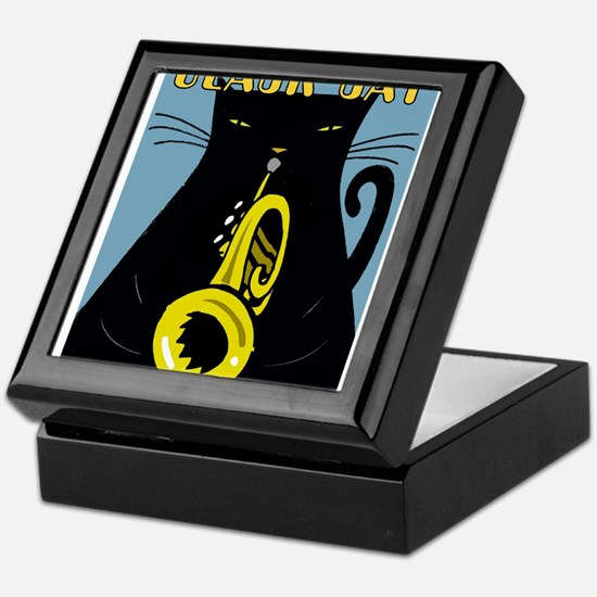 Black Cat Brass Band Keepsake Box
