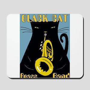 Black Cat Brass Band Mousepad
