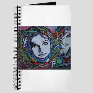 Graffiti Girl with Rainbow Hair Journal