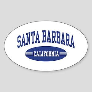 Santa Barbara Sticker (Oval)