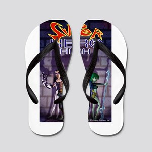 Superhero High Flip Flops