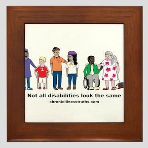 Not all disabilities... Framed Tile