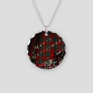 Cardinal Christmas Necklace Circle Charm