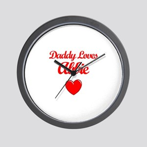 Daddy Loves Abbie Wall Clock