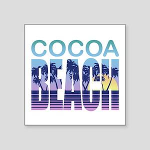 """Cocoa Beach Square Sticker 3"""" x 3"""""""