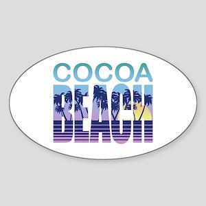 Cocoa Beach Sticker (Oval)