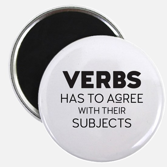 Verbal Agreement Magnets