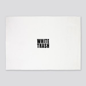 White Trash 5'x7'Area Rug