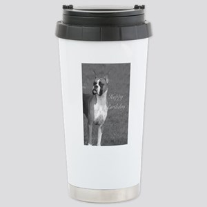 Birthday Boxer Dog Stainless Steel Travel Mug