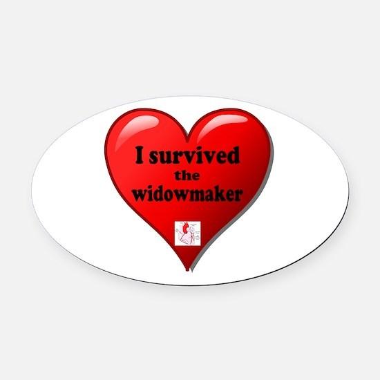 I Survived the Widowmaker Oval Car Magnet