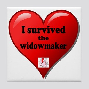I Survived the Widowmaker Tile Coaster