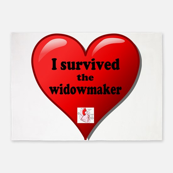 I Survived the Widowmaker 5'x7'Area Rug