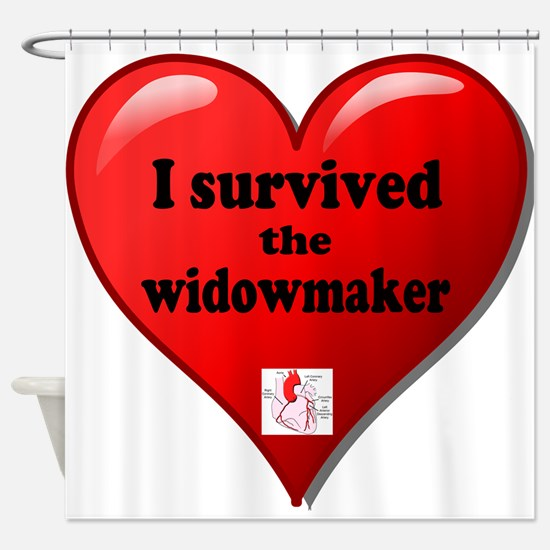 I Survived the Widowmaker Shower Curtain