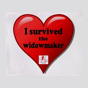 I Survived the Widowmaker Throw Blanket