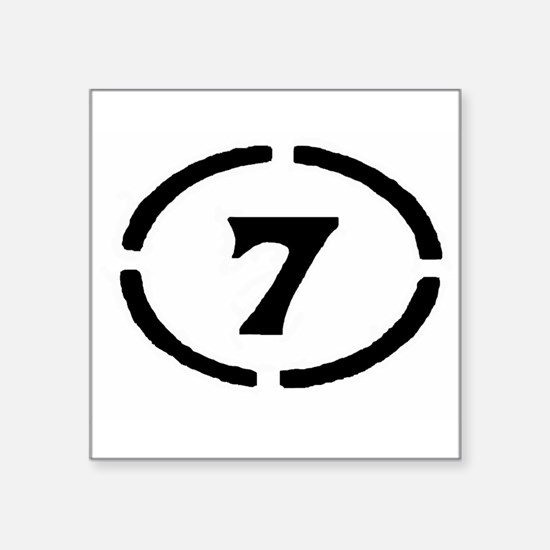 Circle Seven Rectangle Sticker