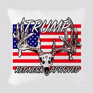 Trump Redneck Approved 2 Woven Throw Pillow
