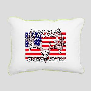 Trump Redneck Approved 2 Rectangular Canvas Pillow