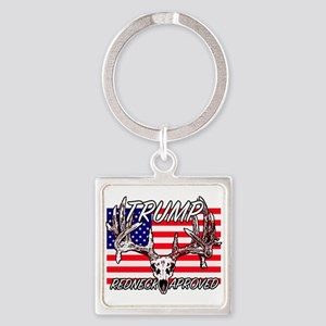Trump Redneck Approved 2 Square Keychain