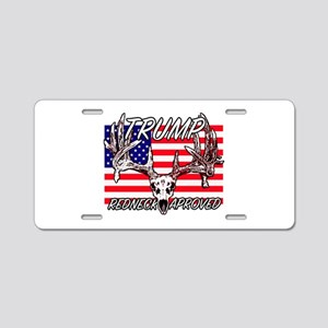Trump Redneck Approved 2 Aluminum License Plate