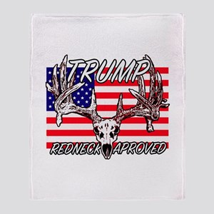 Trump Redneck Approved 2 Throw Blanket