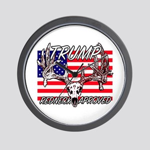 Trump Redneck Approved 2 Wall Clock