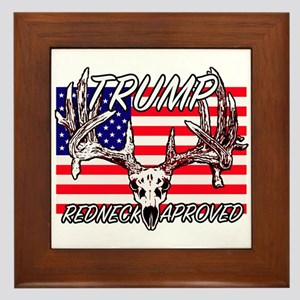 Trump Redneck Approved 2 Framed Tile