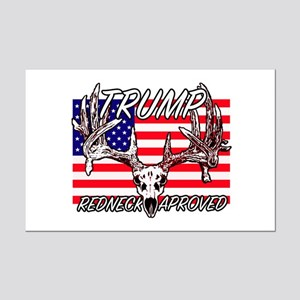 Trump Redneck Approved 2 Mini Poster Print