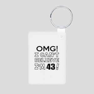 Omg I Can Not Believe I Am Aluminum Photo Keychain