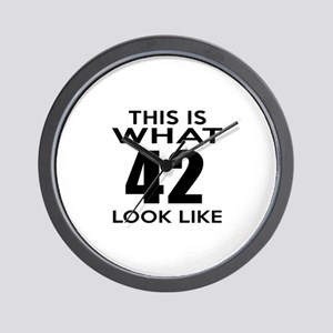 This Is What 42 Look Like Wall Clock