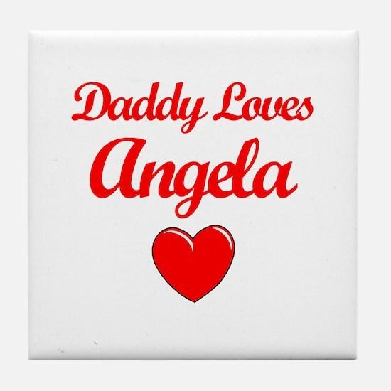 Daddy Loves Angela Tile Coaster
