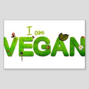 I am Vegan Sticker