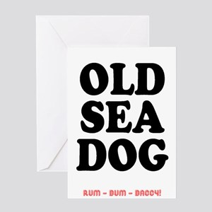 OLD SEA DOG - Greeting Cards
