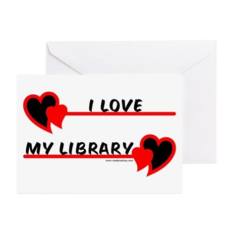 I love My Library Greeting Cards (Pk of 10)