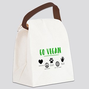 Go Vegan Canvas Lunch Bag
