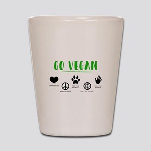 Go Vegan Shot Glass
