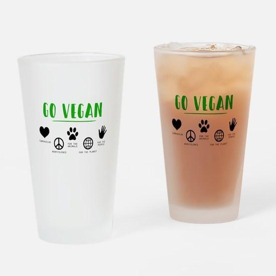 Go Vegan Drinking Glass