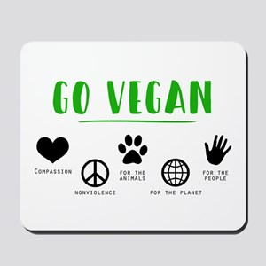Go Vegan Mousepad