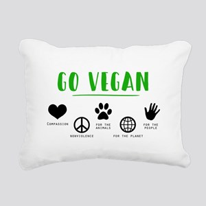 Go Vegan Rectangular Canvas Pillow