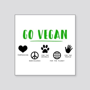 Go Vegan Sticker
