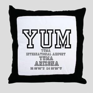 AIRPORT CODES - YUM - YUMA, ARIZONA! Throw Pillow